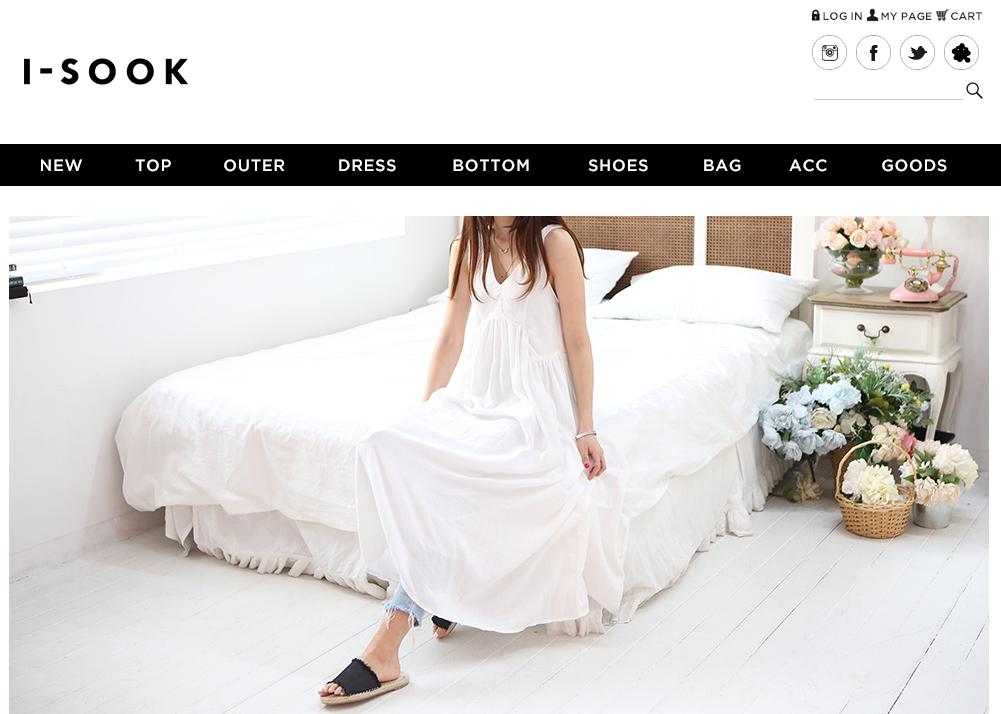 韓国ファッション通販サイトのI-SOOK(アイスー)