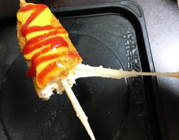 チーズが伸びるハットク