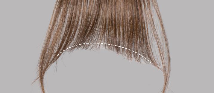 一度装着して、自分に合う長さに前髪ウィッグをカットする