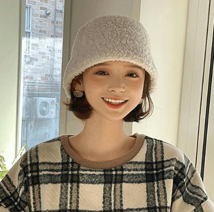 ファー・ムートン帽子